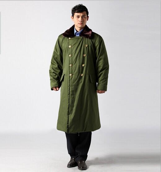加厚长款军大衣