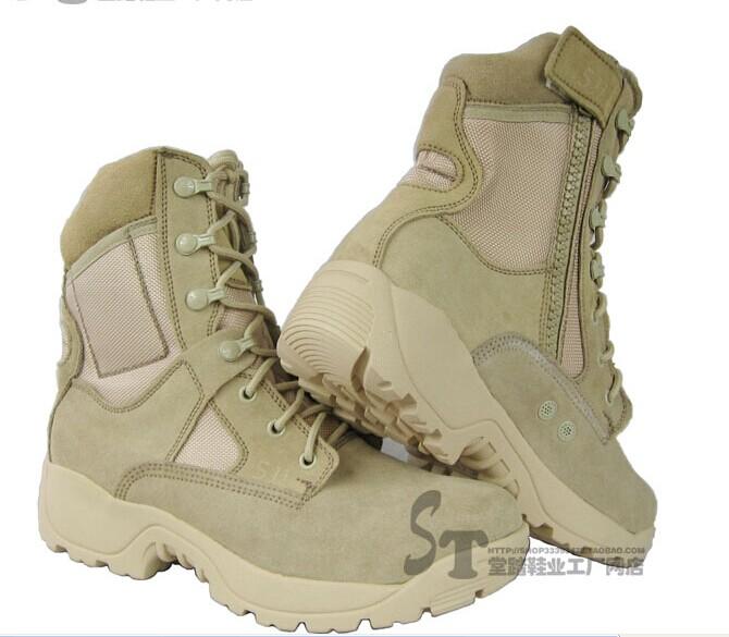 特种兵男女款X511美军沙漠作战靴,野外战术训练军靴反绒牛皮快干