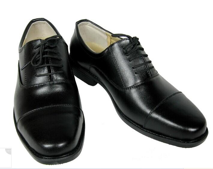 真皮功勋男单鞋,头层牛皮正装三节头皮鞋三接头军鞋