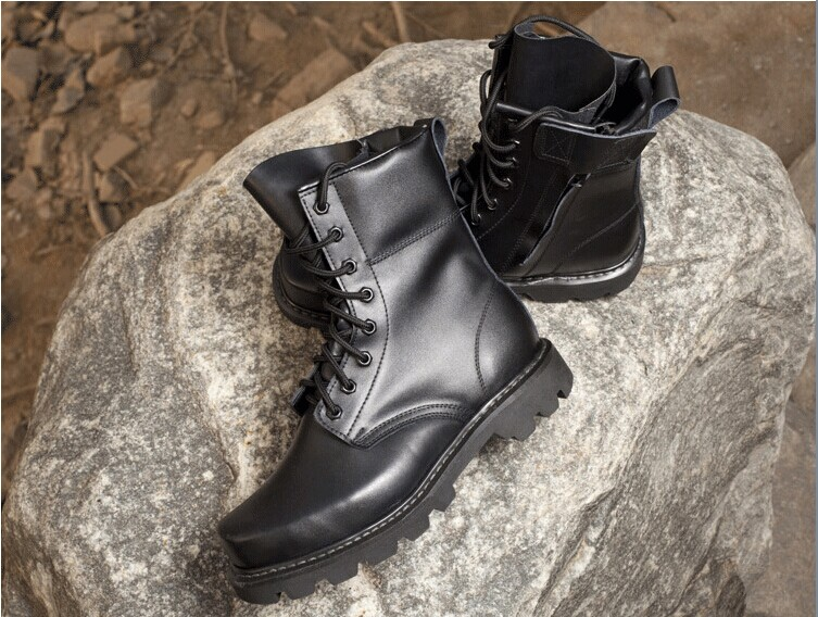 2013新款钢头压花真牛皮鞋,男特种兵部队军靴野外训练演习战斗靴