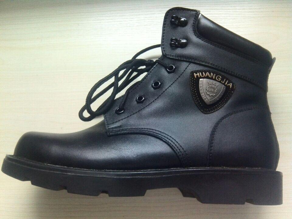 冬季特价真皮男式棉靴真皮牛皮羊毛雪地靴大头皮鞋工作靴保安靴